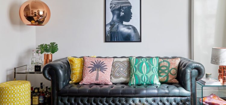 African express: how bright textiles brought one London home to life